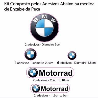 adesivo refletivo relevo 3d moto capacete carro bmw motorrad