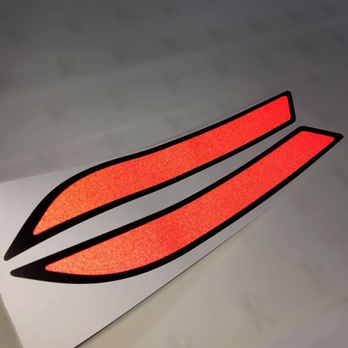 adesivo refletor para-choque lanterna traseira gol g6