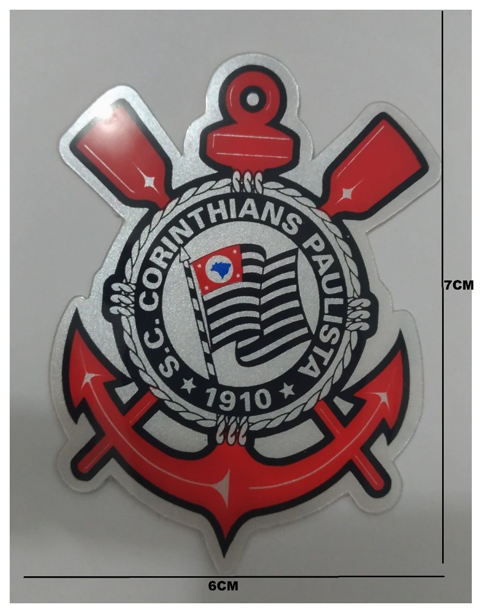 Adesivo Resinado Carro Moto Corinthians Timão Tamanho 7x6cm - R  12 ... 94828abe411db