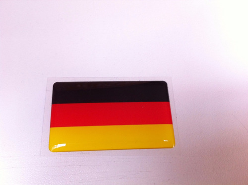 adesivo resinado da bandeira da alemanha 5 cm por 3 cm