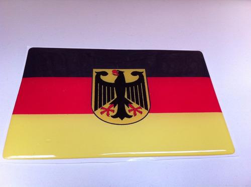 adesivo resinado da bandeira da alemanha ocidental (rfa) 9cm