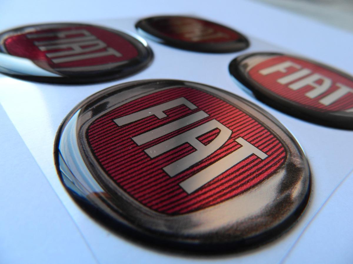 Artesanato Mineiro Em Madeira ~ Adesivo Resinado De Calota Fiat Vermelho R$ 20,95 em
