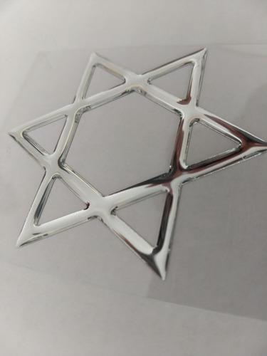 adesivo resinado estrela de davi israel carro moto alto rele