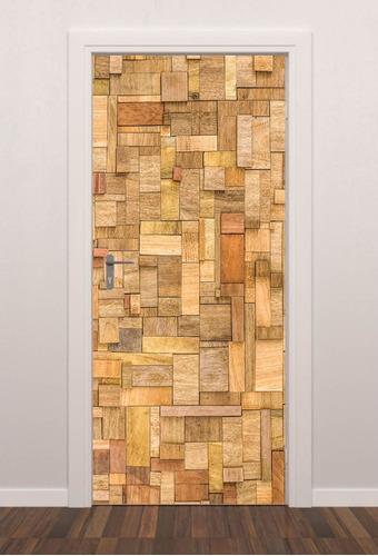adesivo revestimento liso para porta estampa madeira m8