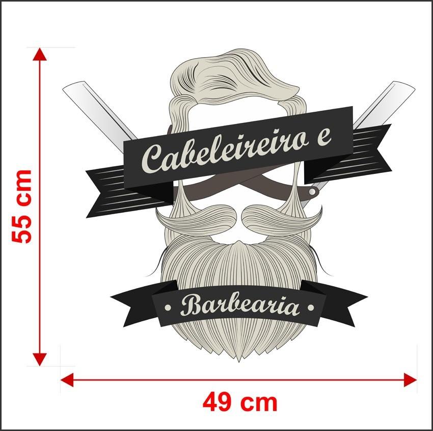 Artesanato Para Vender Passo A Passo ~ Adesivo Sal u00e3o Beleza Homem Cabelo Barba Navalha Will486