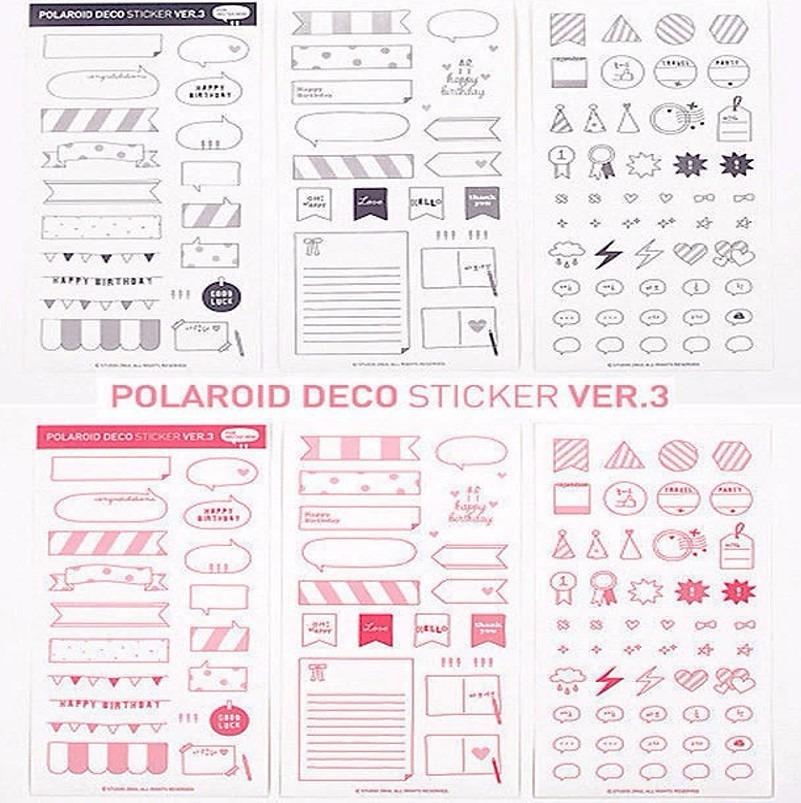 Adesivo Scrapbook Sticker Niver Frase Mural Colagem Planner