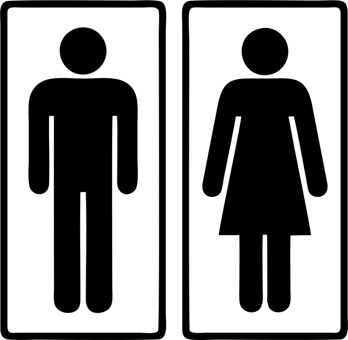 Adesivo Sinalização Banheiro Masculino Feminino  R$ 5,99 em Mercado Livre -> Sinalizacao Banheiro Feminino E Masculino