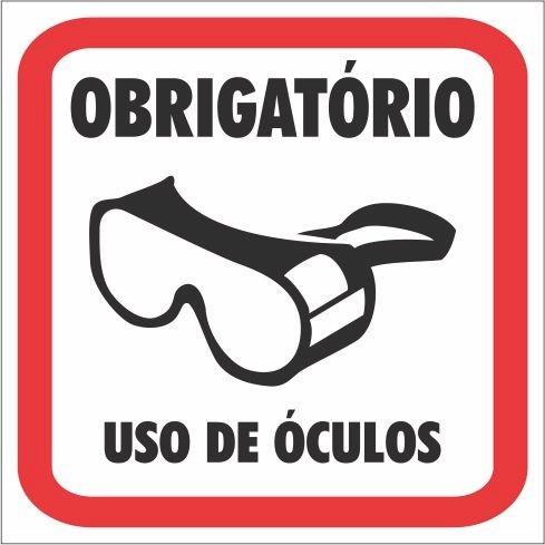 Adesivo Sinalização Epi - Uso De Óculos - 5 Unidades - R  29,90 em ... 014ccfedab