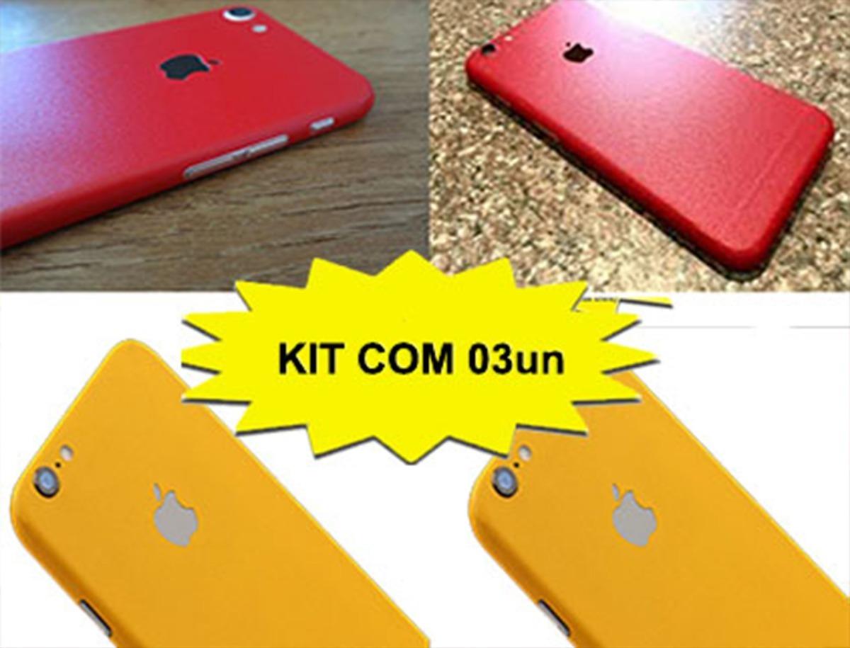 adesivo skin capa iphone 6 6s 7 7s red kit 03un. Carregando zoom. ce35a69be