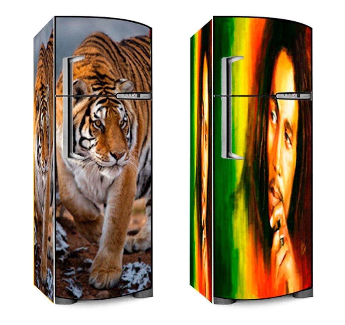 Adesivo De Parede Sjc ~ Adesivo Skin P Envelopamento Geladeira + De 500 Modelos R$ 219,99 em Mercado Livre