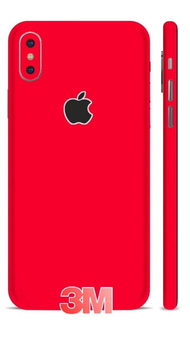 the best attitude 3b693 0015b Adesivo Skin Vermelho Fosco iPhone X Xs Xr Xs Max