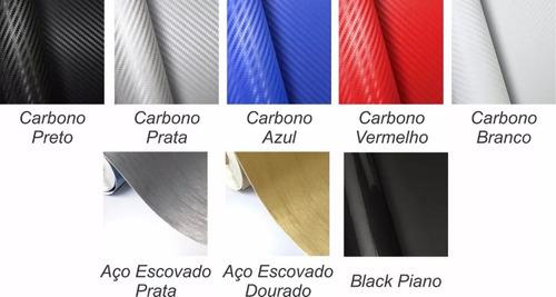adesivo skin vinil fibra de carbono para ps3 slim