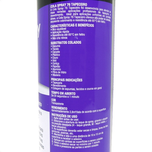 adesivo spray 3m 76 cola tecido forro teto carro tapeceiro
