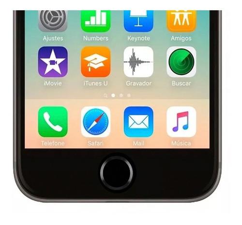 adesivo sticker botão home iphone estilo 5s branco e dourado