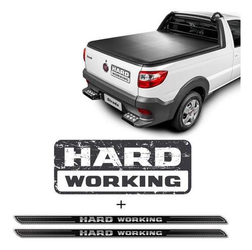 adesivo strada hard working 2018/2019 + soleira protetora