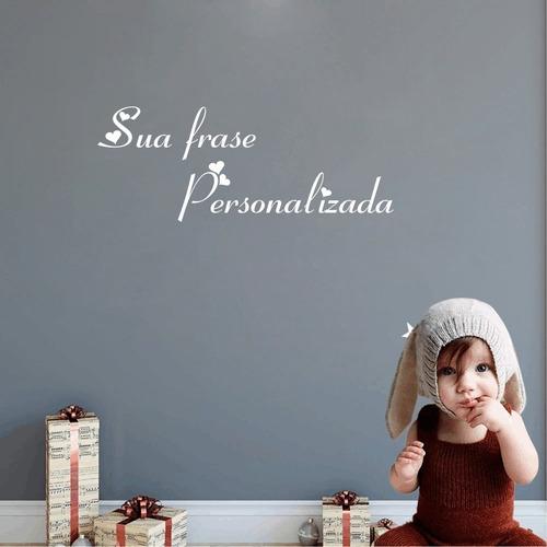 adesivo sua frase ou nome personalizada frete grátis 80cm