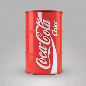 Adesivo Tambor Coca Cola Tonel Barril 200l