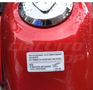 adesivo tanque abastecimento moto honda kpf 900 frete grátis