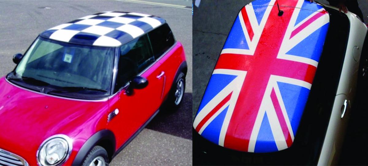 Adesivo Teto Ou Cap U00f4 Carro Bandeiras Lifan Mini Cooper