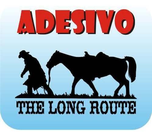 adesivo the long route cowboy  cowgirl personalizado