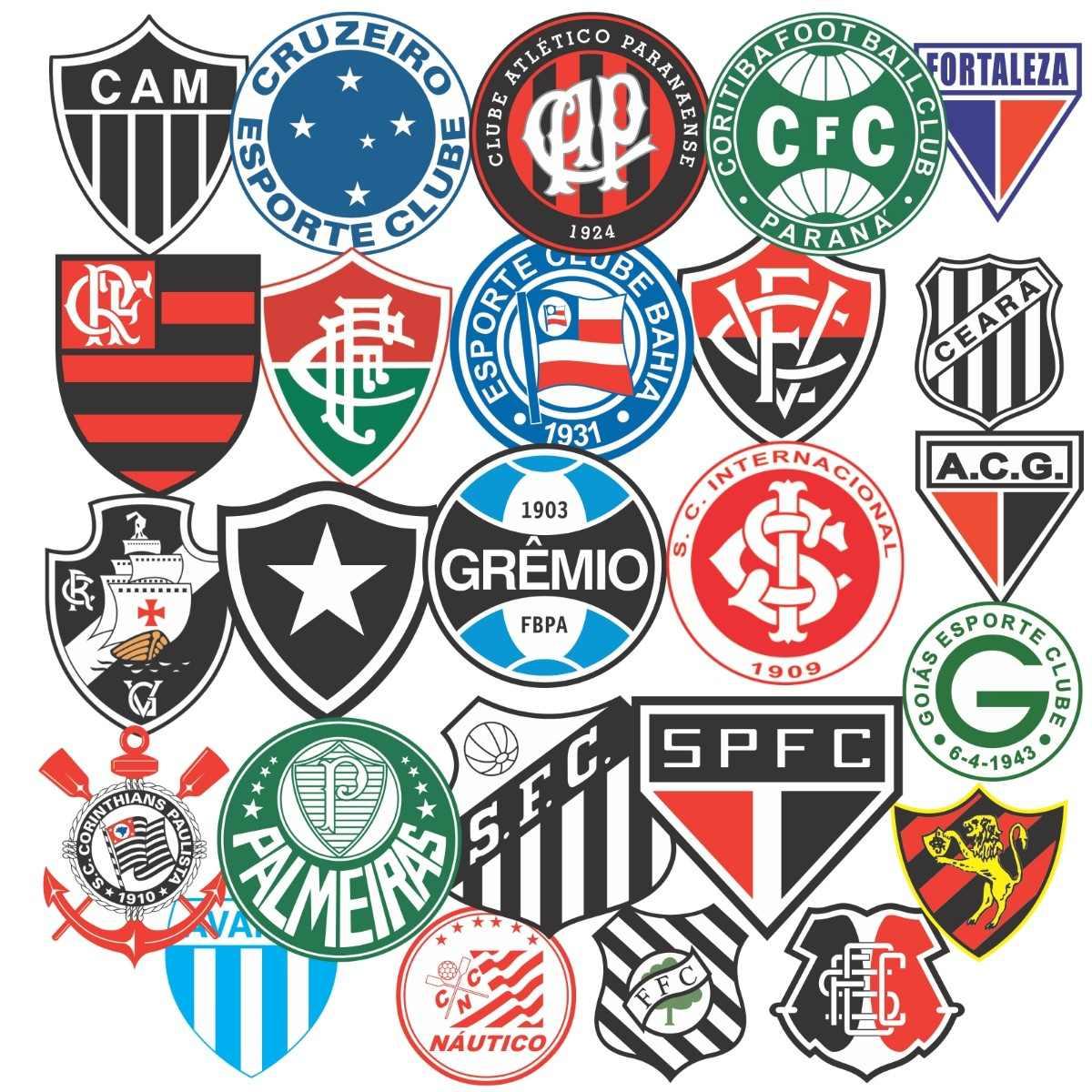 adesivo time clube futebol - notebook carro - frete grátis. Carregando zoom. 4e6834830ea88