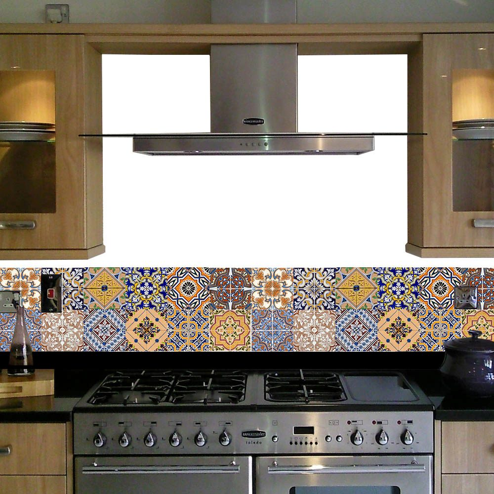 adesivo tipo azulejo mosaico portugus peas