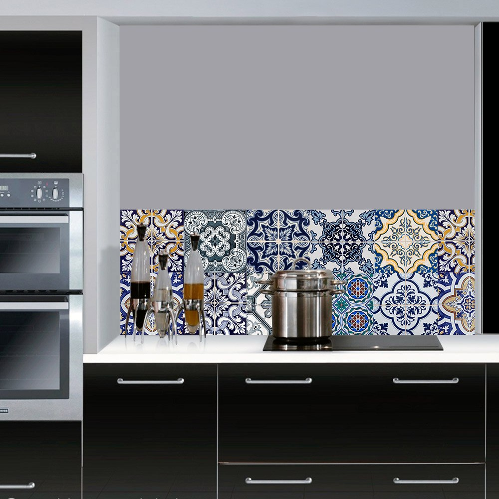 Adesivo tipo azulejo mosaico portugu s 12 pe as r 29 - Tipos de azulejos ...