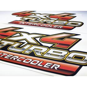 Adesivo Toyota Hilux 4x4 Turbo Intercooler Par 2010 4x4009