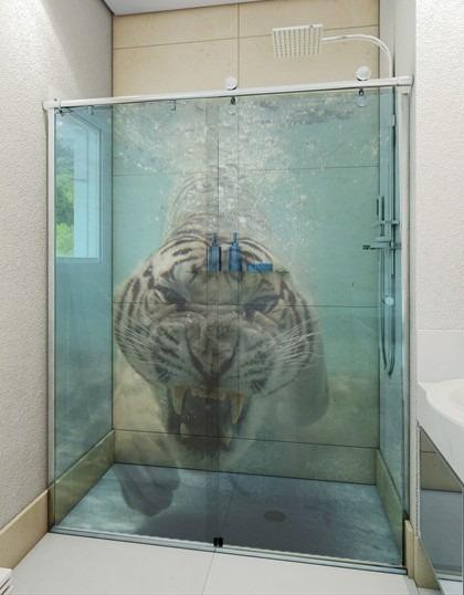 Tuca Artesanato Resende Costa ~ Adesivo Transparente Decorativo Para Box Banheiro E Vidro R$ 50,00 em Mercado Livre
