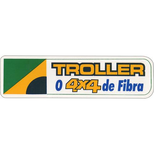 adesivo - troller o 4x4 de fibra - bandeira do brasil