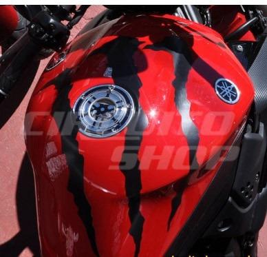 adesivo tuning monster tanque moto yamaha xj6 600 top