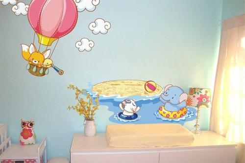 adesivo turminha do balão - mudo minha casa