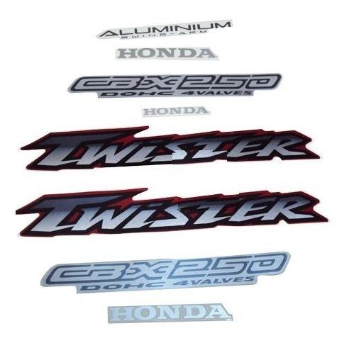 adesivo twister cbx250 2000 e 2001 vermelho - faixa original