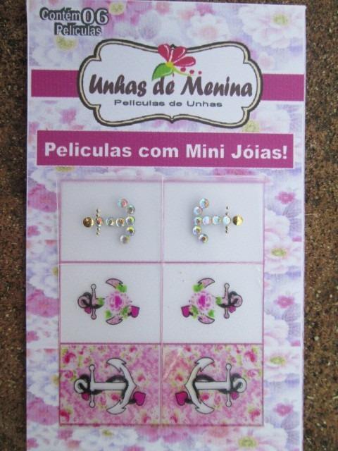 Aparador De Sala Branco ~ Adesivo Unhas 50 Cartelas Com Mini Joias Pingente Artesanal R$ 99,98 em Mercado Livre