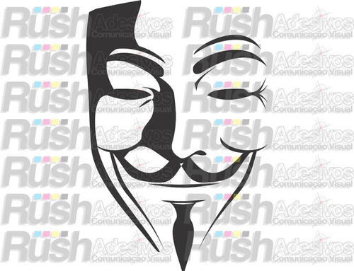 adesivo v de vingança,v for vandetta, anonymous, manifestar