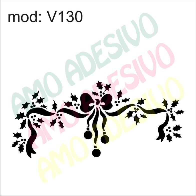 Adesivo V130 Laco Flor Flores Arranjo Desenho Abstrato R 87 26