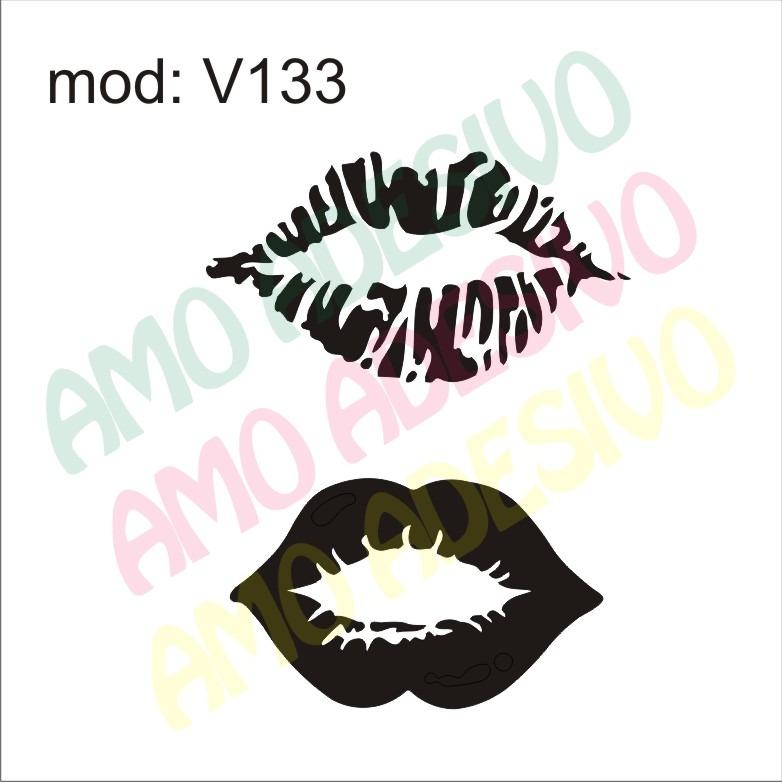 Adesivo Reposição Hormonal Feminino ~ Adesivo V133 Desenho Abstrato Boca Beijo Decorativo Parede R$ 85,29 em Mercado Livre