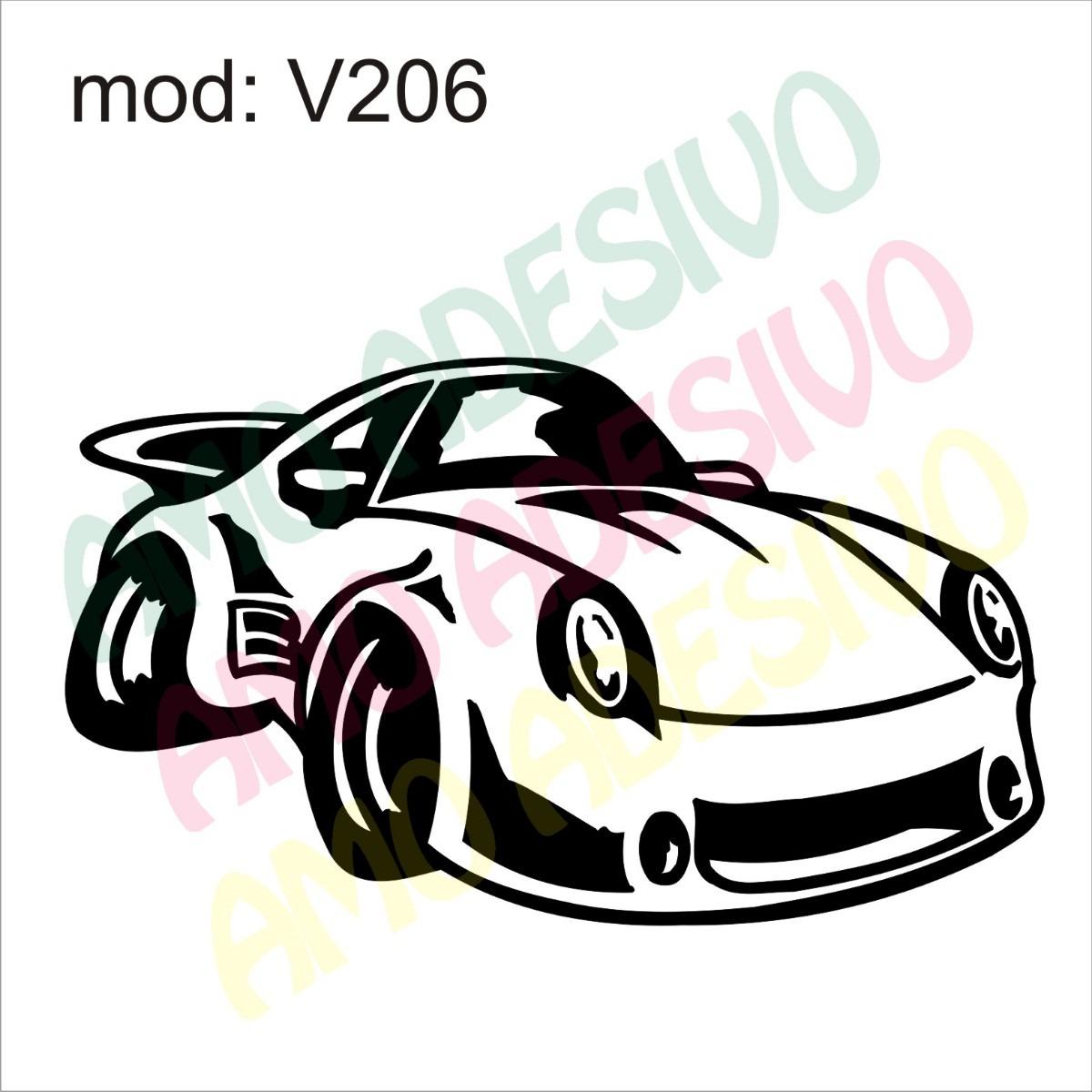 Adesivo V206 Carro Desenho Abstrato Carrinho Car De Parede R 85