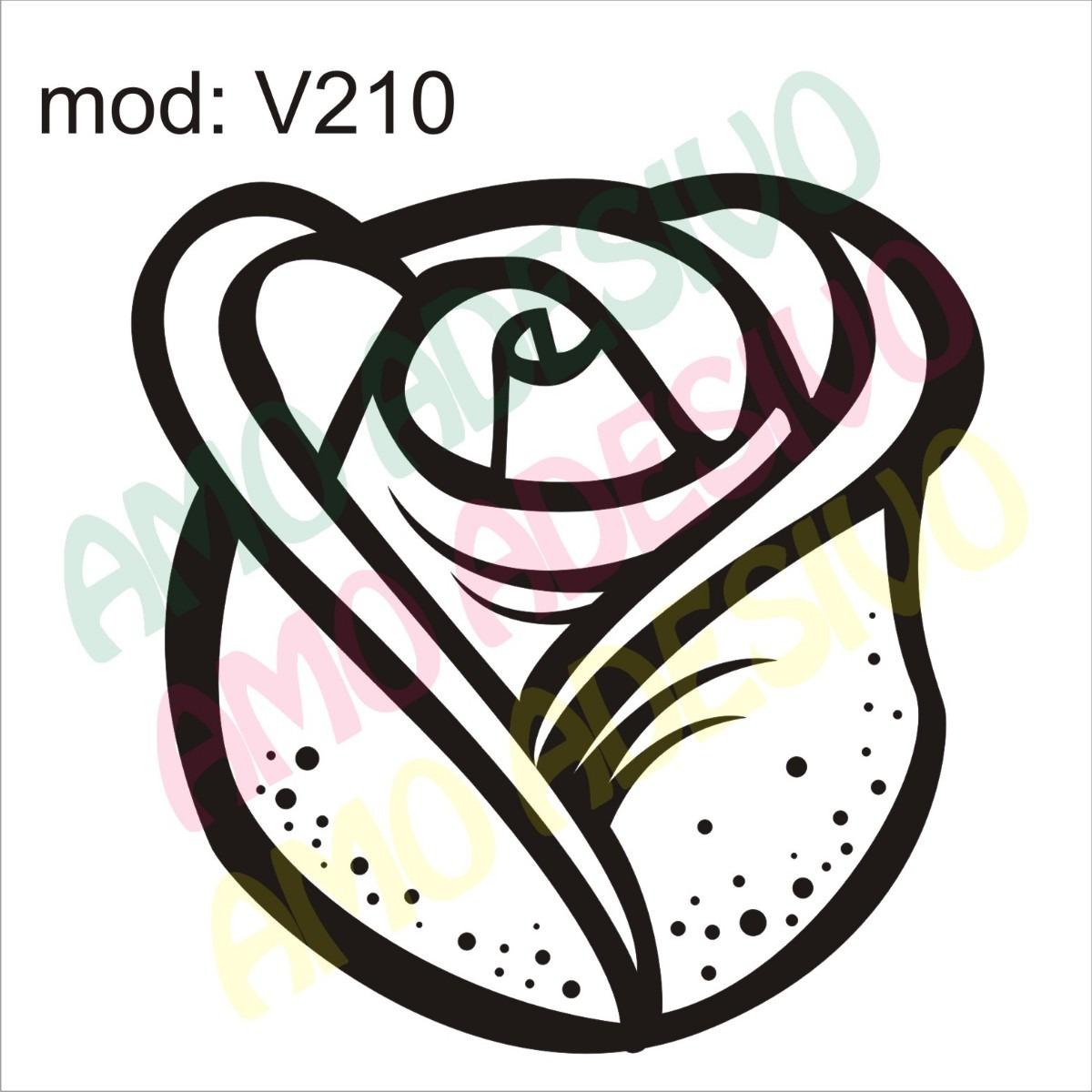 adesivo v210 flor rosa desenho abstrato decorativo de parede r 85