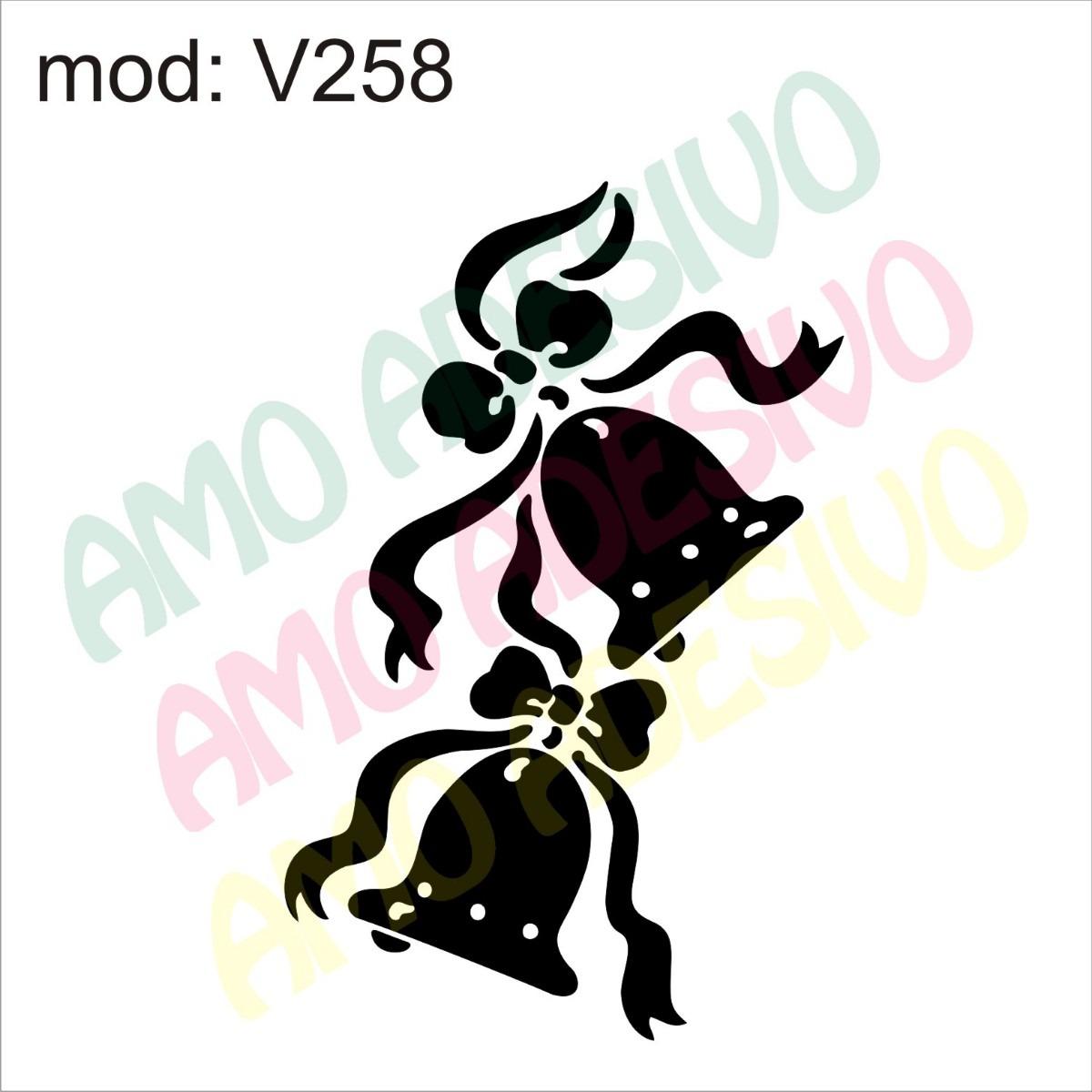 adesivo v258 desenho abstrato sino natal laço toca sino r 87 26