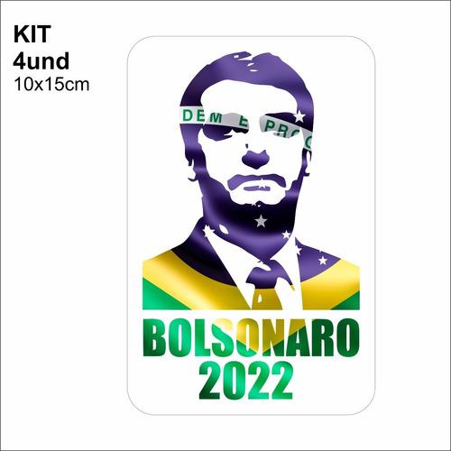 adesivo vinil 3m bolsonaro 2022 para carro