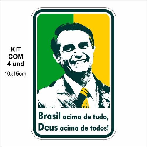 adesivo vinil 3m- brasil acima de tudo, deus acima de todos!