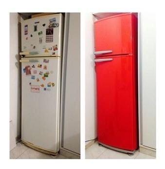 adesivo vinil decorativo p/ geladeira e armarios 10 m x 1 m