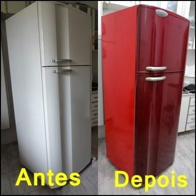 adesivo vinil envelopamento móveis geladeira decoração