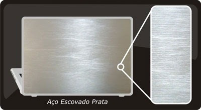 adesivo vinil estilizando aço escovado 100cm