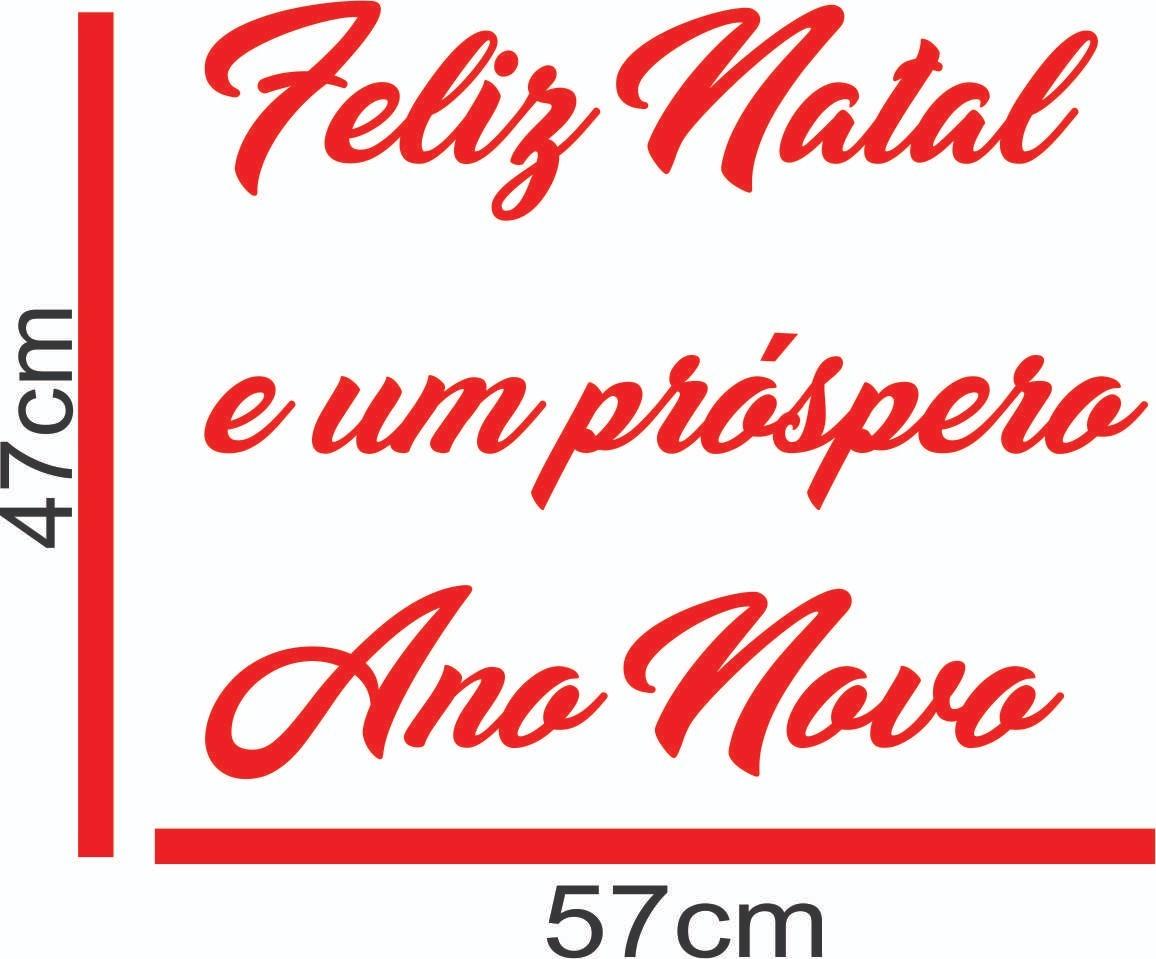 Adesivo Vitrine Vidro Natal Ano Novo Prospero Parede Feliz R 39