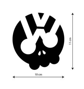 fa63c1c30 Adesivo Oakley Skull Caveira Volkswagen Adesivos - Acessórios de ...