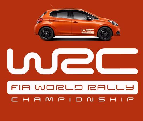 adesivo  wrc fia world rally car plotter vw peugeot renault