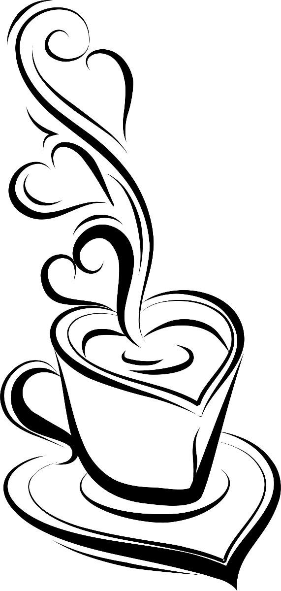 Adesivo Xicara Media Caf 233 Coffe Adesivo De Parede