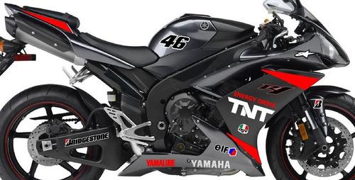 adesivo yamaha r1 personalizado modelo gtadesivos motogp